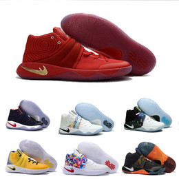 Wholesale Sporting Medals - 2016 Hot Sale Kyrie Irving 2 Olympic Gold Medal USA Men's Basketball Shoes for Top quality Irving2 II BHM Sports Sneakers Size 7-12