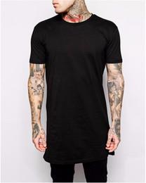 Wholesale Tall Man Shirts - Wholesale-Hip hop men's US size longline t-shirt short sleeve men t shirt tall tshirt new arrival mens top tee shirts free shipping
