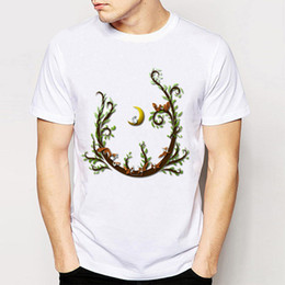 Wholesale rock tracks - Track Ship + 2016 New Print Tees Vintage Retro Rock&Roll Punk Mens Tees T Shirts A Night In The Forest And Cute Fox