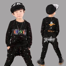 Wholesale Galaxy Harem Pant - Baby & Kids Clothing Clothing Sets SPACE Galaxy boys clothes Cotton long sleeve T-shirt+Harem Pants children Spring   autumn sport suit
