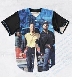 Wholesale Baseball Custom T Shirts - REAL USA SIZE Custom made Fashion 3D Sublimaiton Print Boyz N Da Hood Unisex Baseball t-shirt Plus Size 3XL 4XL 5XL 6XL