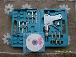 Wholesale Dimple Lock Pick Gun - high quality Dimple Lock Bump Gun KABAH Locksmith tool house door Lock Pick set hard plastic briefcase