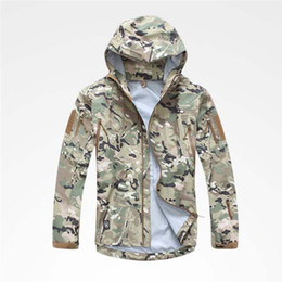 Wholesale Hunting Clothes Green - Outdoor Camping Jacket Men Windstopper Hardshell Tactical Clothes Windproof Hunting Camping Hoody Coats