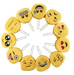 teléfono celular británico Rebajas Nueva Expresión Monederos Monederos Lindo Emoji Moneda Monedero Colgante de felpa Mujeres Chicas Creativas Chirstmas Regalos B0768