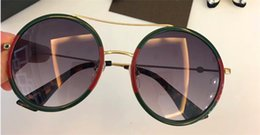 Wholesale Red Man Sign - New fashion round retro frame crystal sequins sunglasses brand designer sunglasses for women anti-UV lens legs with bee sign G 0061