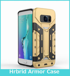 Wholesale Note Hard Case Design - New Design For Samsung Note 7 S7 Edge 2 in 1 Hybrid Armor Bear Case Hard Plastic Case with Stand Card Slot Skin Cover For iPhone7 6 plus