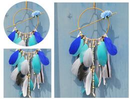 Canada Dreamcatcher Inde Style Exquis Manuelle Récepteur de rêve Feather Bead Pendentif décoration Ornement pour voiture Home Bedroom B943L Offre