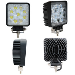 Wholesale 27w Led Work Lights - Automotive work lights 1800LM 27W High-power 9X 3W Bead LEDs working light Square Offroad LED car Work Light bar