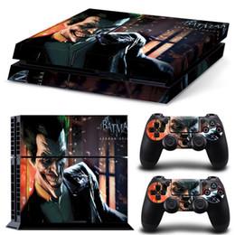 Peaux de vinyle pour ps4 en Ligne-Autocollant drôle de peau de vinyle autocollant de Batman pour la console Sony PlayStation 4 PS4 et 2 autocollants de peau de contrôleurs