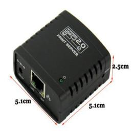 Wholesale Sharing Network Lan Server - Shop Recommedation USB 2.0 LPR Printer Print Server Hub Adapter Ethernet LAN Networking Share Free Shipping&Wholesale