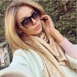 Wholesale Eye Frames Wholesale - Wholesale-2016 Women Half Frame Sunglasses New Brand Designer Fashion Gafas Lentes De Sol Vintage Lunette Cat Eye Eyewear Men Outdoor G45