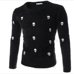 Wholesale Fine Knits - Wholesale-The new 2016 fine embroidered person cranial head British men's cultivate one's morality round collar sweater knit