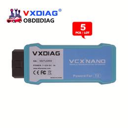 Wholesale Toyota Techstream J2534 - 5pcs lot VXDIAG VCX NANO for TOYOTA TIS Techstream V12.00.127 Compatible with SAE J2534 VXDIAG VCX NANO for Toyota Diagnostic Tool