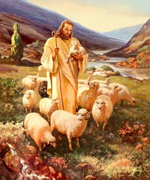 Wholesale Portrait Painting Gift - Christ light of Jesus oil painting Portrait Reproduction High Quality Giclee Print on Canvas Modern Home Art Decor best Christmas Gift zj050
