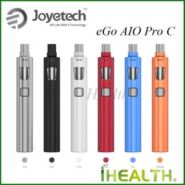 Wholesale Large C - Joyetech eGo AIO Pro C Kit Single 18650 Battery 4ml Tank Capacity Large Airflow Control 100% Original eGo AIO Pro C Starter Kit