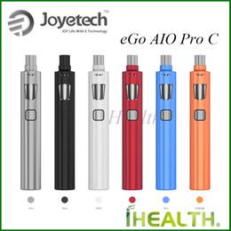 Wholesale Ego Pro Tanks - Joyetech eGo AIO Pro C Kit Single 18650 Battery 4ml Tank Capacity Large Airflow Control 100% Original eGo AIO Pro C Starter Kit