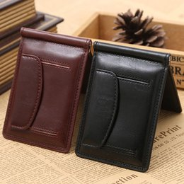 Wholesale Magnets Cards - New Fashion GUBINTU Brand small money clip wallet with money bag magnet hasp mini leather purse for man