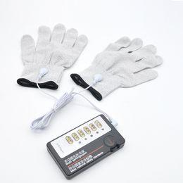 Wholesale Couple Gloves - Electro Shock Gloves E-Stim Stimulation Pair Couples Sex Toys Games A255