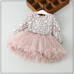 Wholesale Toddler Clothing For Boys - Wholesale-Baby Girls clothing sets New Kids Party tutu False two Dresses for Children clothing Spring 2-7y toddler girls petal dress Suits