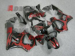 Wholesale Honda Cbr929rr Fairing Red Injection - 2014 Hot Red Pattern Fairing Bodywork Plastic Kit Set CBR900RR CBR929RR 2000-2001 046