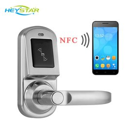 Wholesale Hotels Door Lock - NFC Access Control Samsung Smart Phone ezon nfc Security Electronic Rfid Digital Door Lock Hotel Smart Chip NFC Card Door Lock