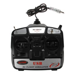 Wholesale Helicopter Flight Simulators - Wholesale- Super Cool 6CH USB 3D RC Helicopter Airplane Flight Simulator