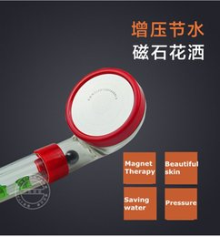 Wholesale Pressure Faucet - Magnet therapy Shower Filter 30% saving water 300% pressure Tourmaline SPA Anion Hand Held Bathroom Shower Head Faucets Filter#60005