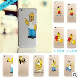 Wholesale Iphone Case Star Minion - Cartoon Christmas minion Simpson Frozen star wars Snow White Spiderman Mermaid soft PC Cases cover for iphone SE 4 4S 5 5S 6 6S plus