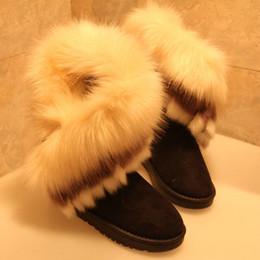 Wholesale Imitation Fox Winter - The Winter Snow Boots Imitation Fox Rabbit Ladies Boots Warm Shoes Woman Boots