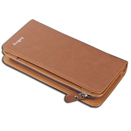 Wholesale Nice Cell Phones - Wholesale- Top Quality Men wallets zipper around long leather wallet man nice male clutch simple style leather big purse large capacity