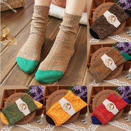 Wholesale Polyester Pile - Wholesale-Feitong Vintage Fashion Autumn And Winter Women Casual Pile Of Socks Cotton Female Socks Women Socks