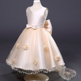 Wholesale High Christmas Accessories - Weddings & Events Kids Formal Wear & Accessories Flower Girls' Dresses princess high quality Lolita Style Bow Ball Gown pageant dress