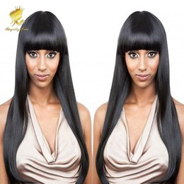 Wholesale Indian Curly Hair For Sell - Hot Selling!!! 100% Human Hair wig alternative wigs with hair bang hair fringe wigs for women