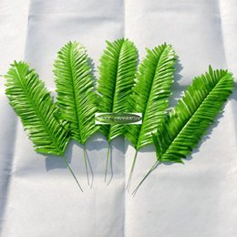 Wholesale Wholesale Display Furniture - Christmas 40cm 25pcs Wedding Home Office Furniture Decor Artificial Sago Palm Fake Fern Foliage Plant Tree Branch Leaf Green f12