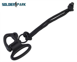 Wholesale Paracord Sling - New Arrial Airsoft Outdoor Sports Paracord Metal Paintball 1 inch Snap Shackle for Sling Hunting Airsoft Durable Tactical Clip order<$18no t