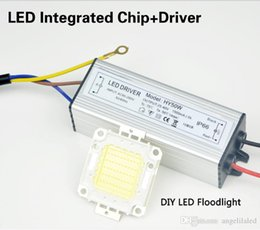 Wholesale Led Driver Watt - Set of Real Full Watts 10W 20W 30W 50W High Power COB LED Lamp Beads Chips Bulb with Waterproof Driver for DIY Floodlight