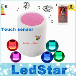 Wholesale Portable High Quality Speakers - High Quality Smart Music Light Bluetooth Mini Speaker Portable Wireless LED Lamp Stereo Loudspeaker Supports Handsfree TF Slot 5V