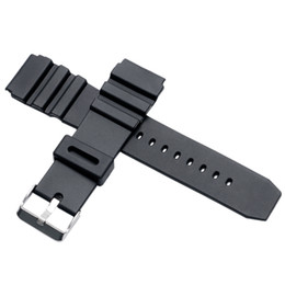 Wholesale 18mm Silicone Watch Strap - Wholesale-Black Rubber Silicone Stainless Steel Pin Buckle Men Women Wrist Watch Strap Band 18mm 20mm 22mm Repalcement