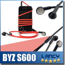 Wholesale Noodle Packaging - Original BYZ S600 120CM Earphone, Headset with Microphone Earphone,Noodles Earphone, for iphone7 samsung With package