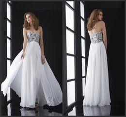 Wholesale Sexy Jasz Dresses - New Arrival Sweetheart Neckline Sequined Beaded Bodice A-line Prom Dress Chiffon Luxurious New Jasz Evening Dress Party Gown HY00752