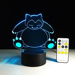 Wholesale Led Visual - 3D Bulbing Light Cartoon visual illusion LED lamp for kids toy Christmas gifts Night Light