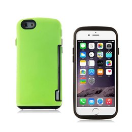 Wholesale Iface Mall - Wholesale tpu + plastic armor phone case with 360 degree iface mall backcover with card slot for iphone SE 6 plus samsung S6 S7 s6 edge