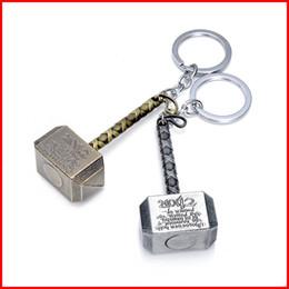Wholesale Avengers Jewelry - Superhero Thor Hammer Keychain Metal The Avengers Mjolnir Figure Pendant Key Chains key rings fashion jewelry 170372