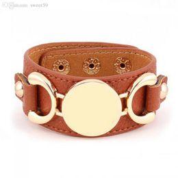2019 braccialetto d'ottone africano Bracciale in pelle multicolor placcato oro / argento a 3 file per donna