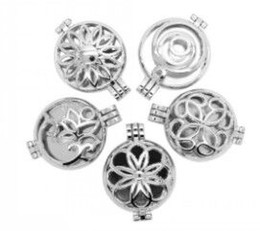 Wholesale Gold Peace Symbol Charm - Imitation platinum10pcs Inner 30mm Alloy Hollow Peace Symbol Living Memory Photo Locket Pendants For
