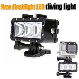 Wholesale Led For Gopro - Underwater Waterproof Video Go Pro Diving LED flash light lamp Flashlight Mount for GoPro Hero 4 3+ SJCAM SJ4000 sj7000 Xiaomi Yi SUPTIG