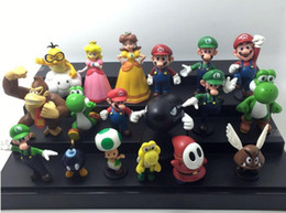 Wholesale Play Mario Bros - 2016 New Genuine Super Mario Bros yoshi Figure dinosaurand roid watchtoys Figure play SuperMario toys doll 18 styles Set