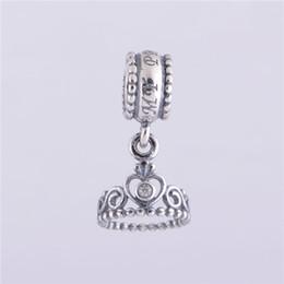 5 шт./лот Принцесса тиара подвески кулон аутентичные стерлингового серебра 925 подходит для pandora стиль браслет бесплатная доставка горячей продажи H9ale от