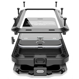 Wholesale Shock Proof Mobile - Hot selling Waterproof Metal Case Hard Aluminum Dirt Shock Proof Mobile Cell Phone Cases Cover for iphone4 4s 5 5c 5s 6 iphone 7 7plus