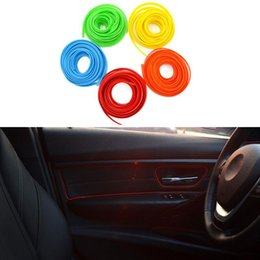 Wholesale Interior Car Decoration Line - 5M Universal Car Styling Flexible Interior Internal Decoration Moulding Trim Decorative Strips Line DIY Sticker Car-Styling